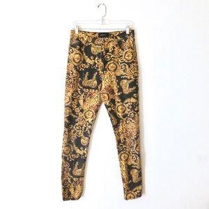 MINKPINK • regal leopard paisley print jeans